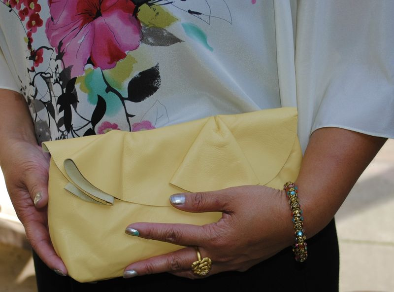 Buttery Soft Leather Clutch A