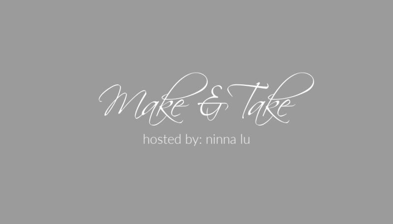 Make & Take sample banner